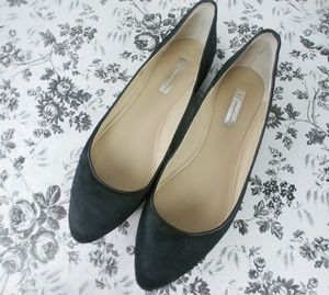 INC pony hair Cindy black pointed toe flats